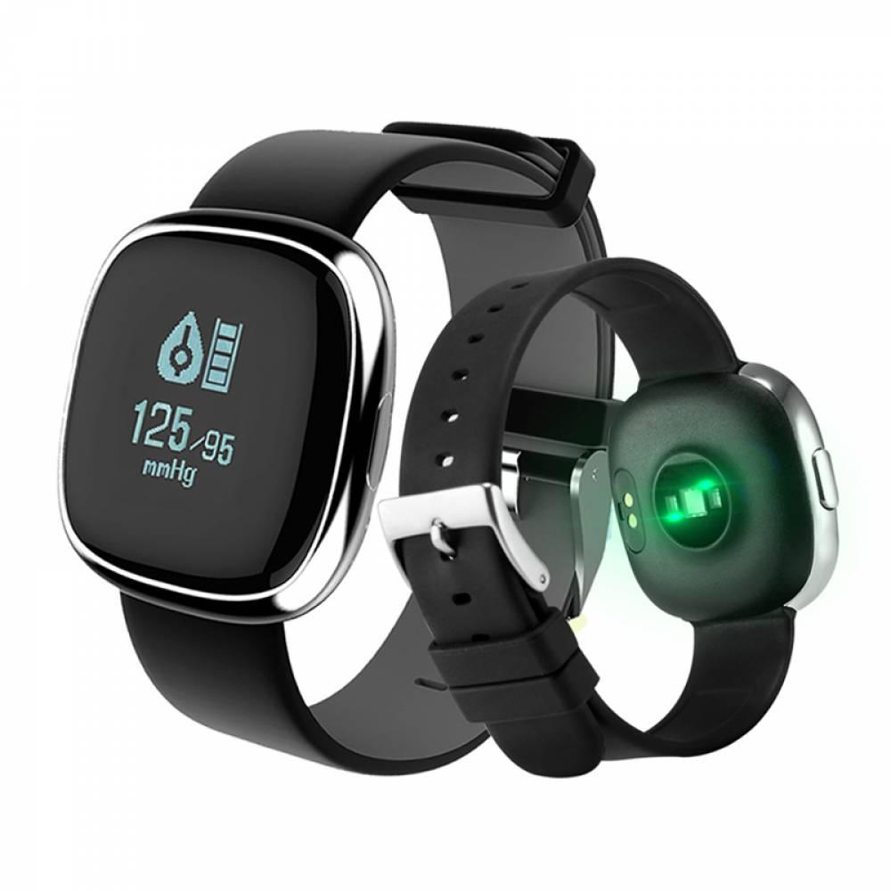 Фитнес гривна Smart Bracelet P2 BP/HR, Кръвно налягане..