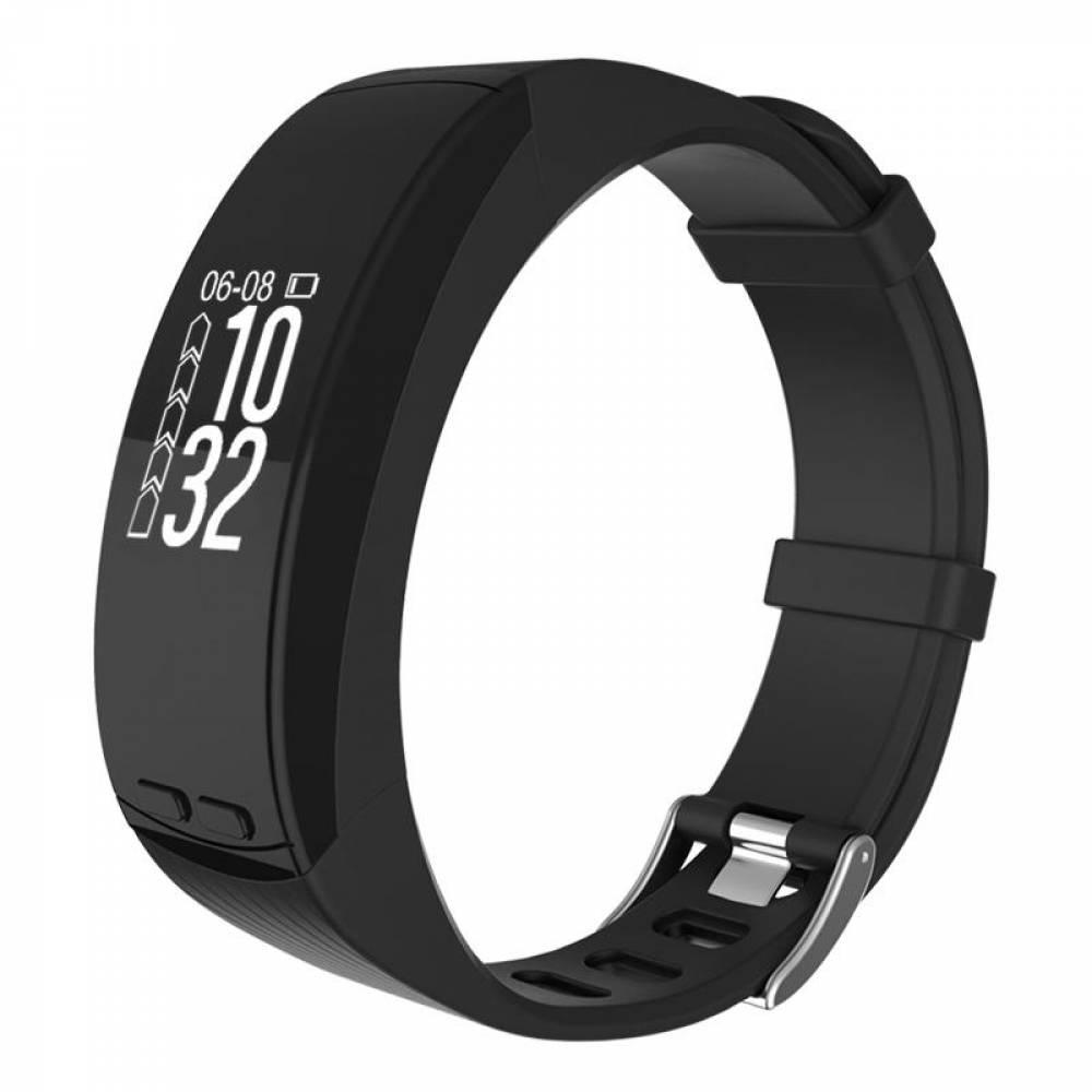 Фитнес гривна Smart Bracelet P5 GPS HR, Барометър, Пулсомер, Температура, Надморска височина, Крачки, Часовник, Черна