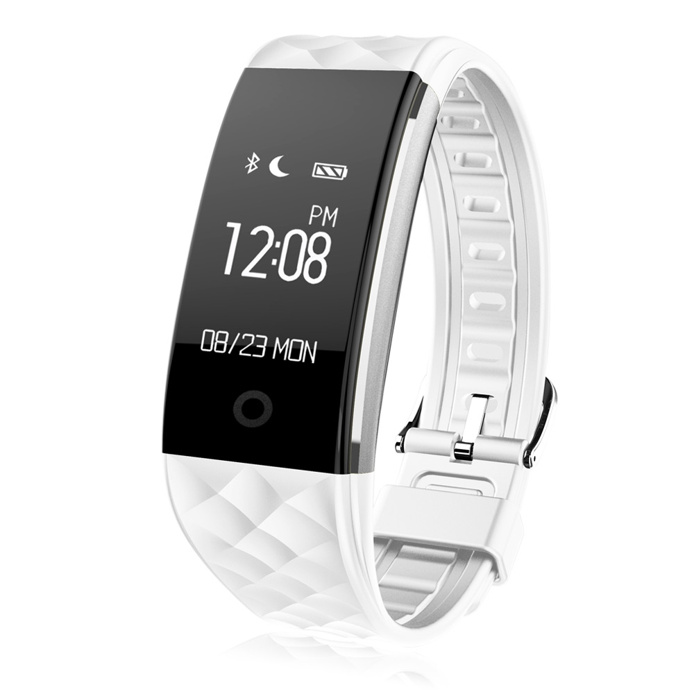 Фитнес гривна Smart Bracelet S2 HR, Heart Rate monitor,Бяла