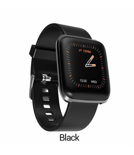 Смарт Часовник KA Digital® W5, Пулс,Кръвно налягане, Kрачки, Разстояние,Мултиспорт, Bluetooth, Черен