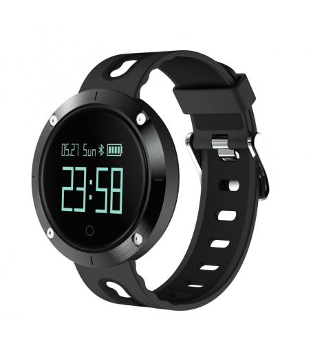 Фитнес гривна Smart Bracelet DM58 BP/HR, Кръвно налягане, Пулс, Крачки, Калории, Часовник, IP67, Черна