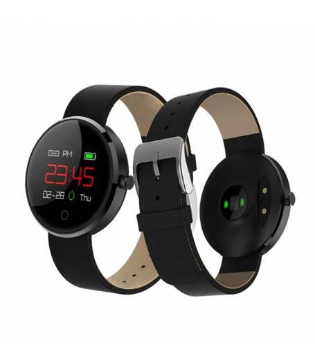Фитнес гривна Smart Bracelet DM78 BP/HR, Кръвно налягане, Пулс, OLED, Крачки, Калории, Часовник, Черна