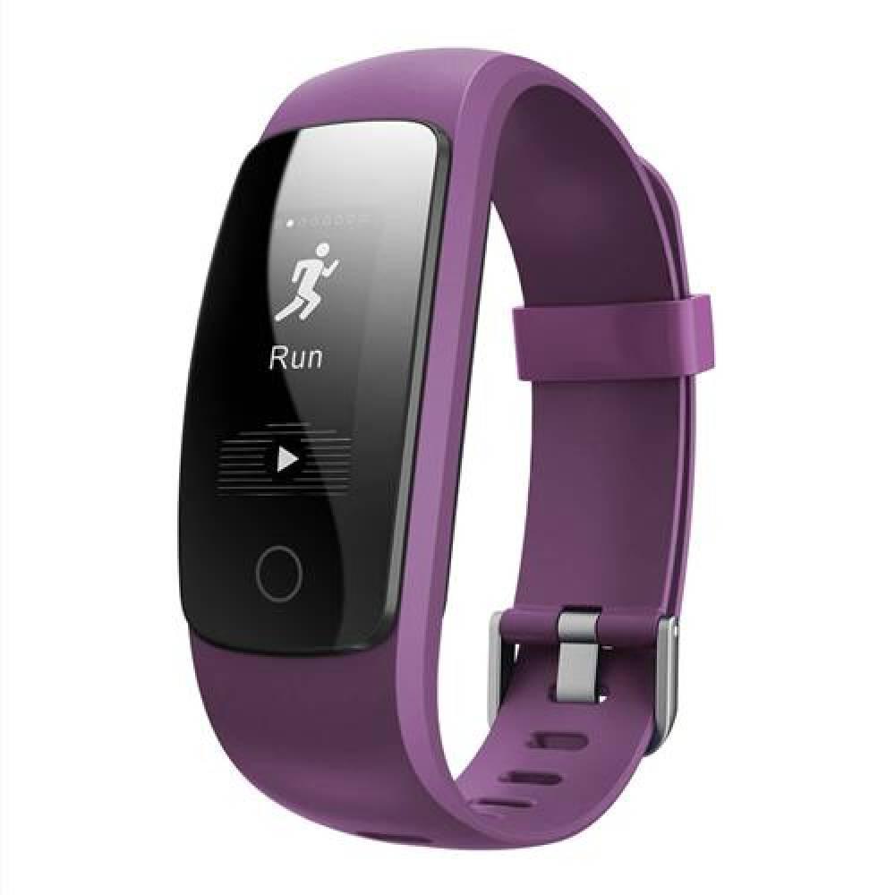 Фитнес гривна Smart Bracelet ID107 Plus HR, Heart Rate monitor,Multi-sport, Фитнес монитор, Крачки, Калории, Лилав