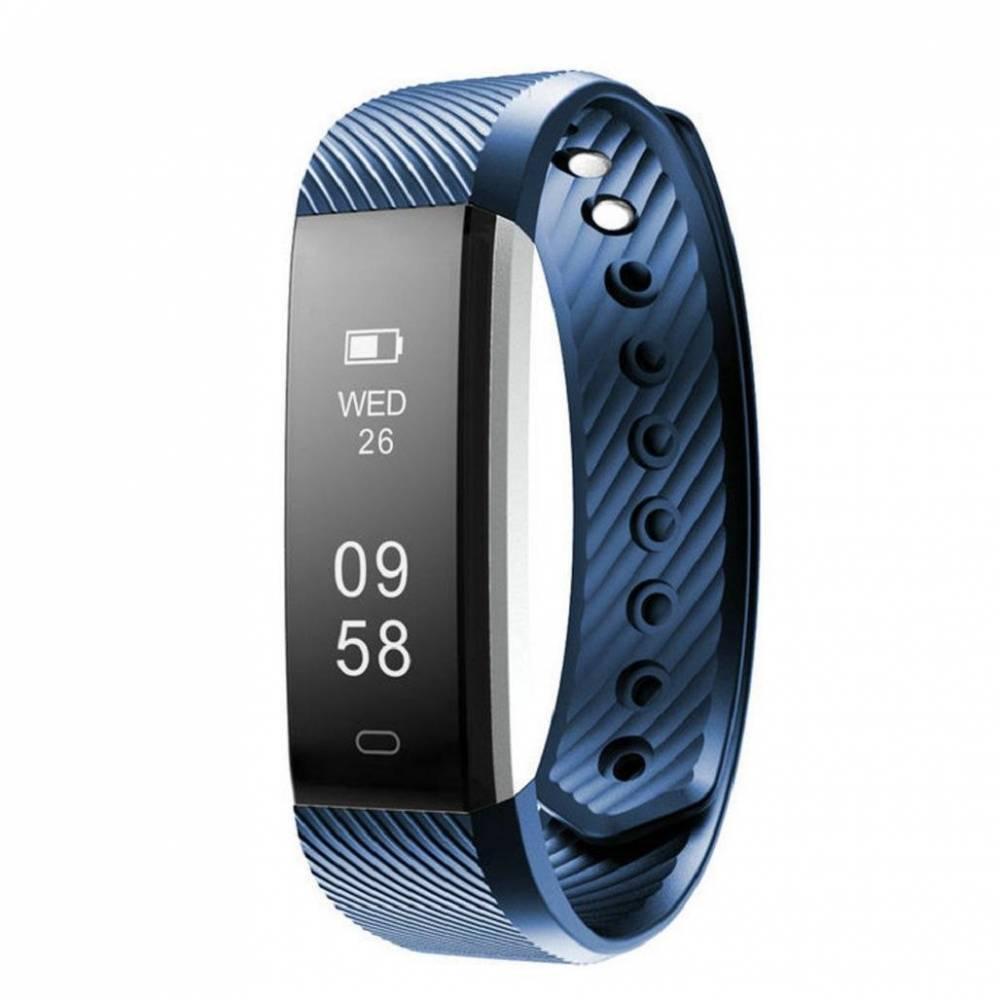Фитнес гривна Smart Bracelet ID115HR, Heart Rate monitor, Синя