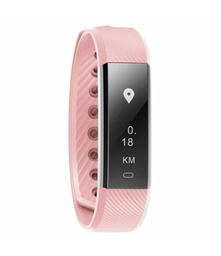 Фитнес гривна Smart Bracelet ID115HR, Heart Rate monitor, Розова