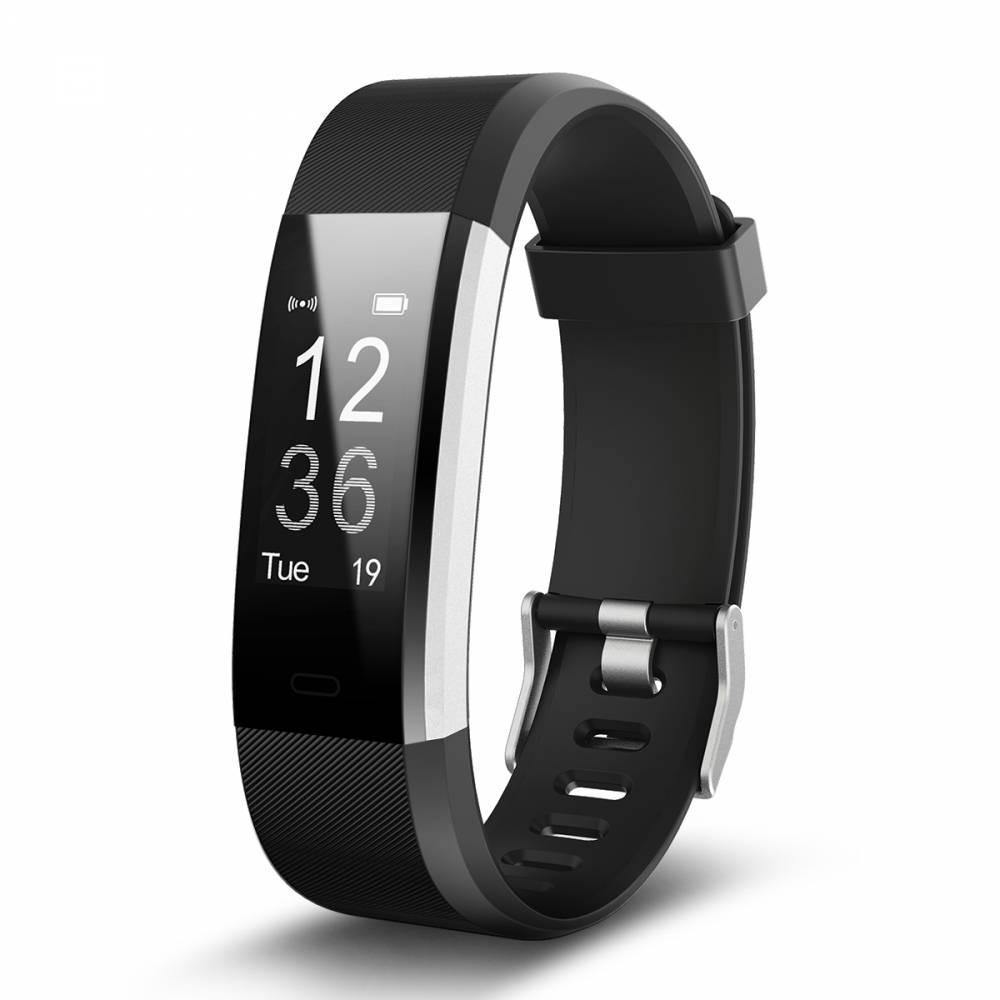 Фитнес гривна Smart Bracelet ID115 Plus, Heart Rate monitor, Multi-sport, Фитнес монитор, Крачки, Калории, Черна