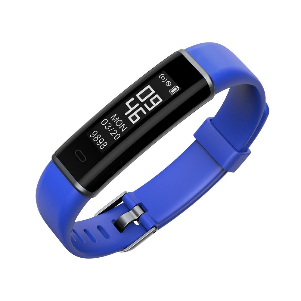 Фитнес гривна Ka Digital ID130HR, Heart Rate, Крачки, Пулс, Калории, Синя