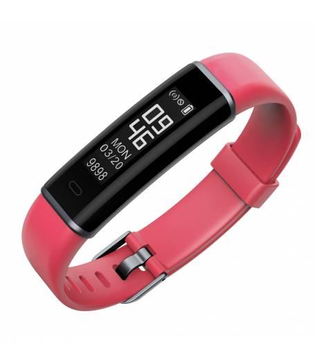 Фитнес гривна Ka Digital ID130HR, Heart Rate, Крачки, Пулс, Калории, Корал
