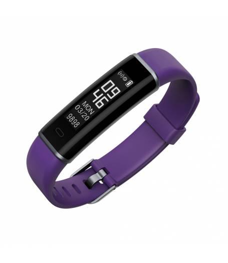 Фитнес гривна Ka Digital ID130HR, Heart Rate, Крачки, Пулс, Калории, Лилава