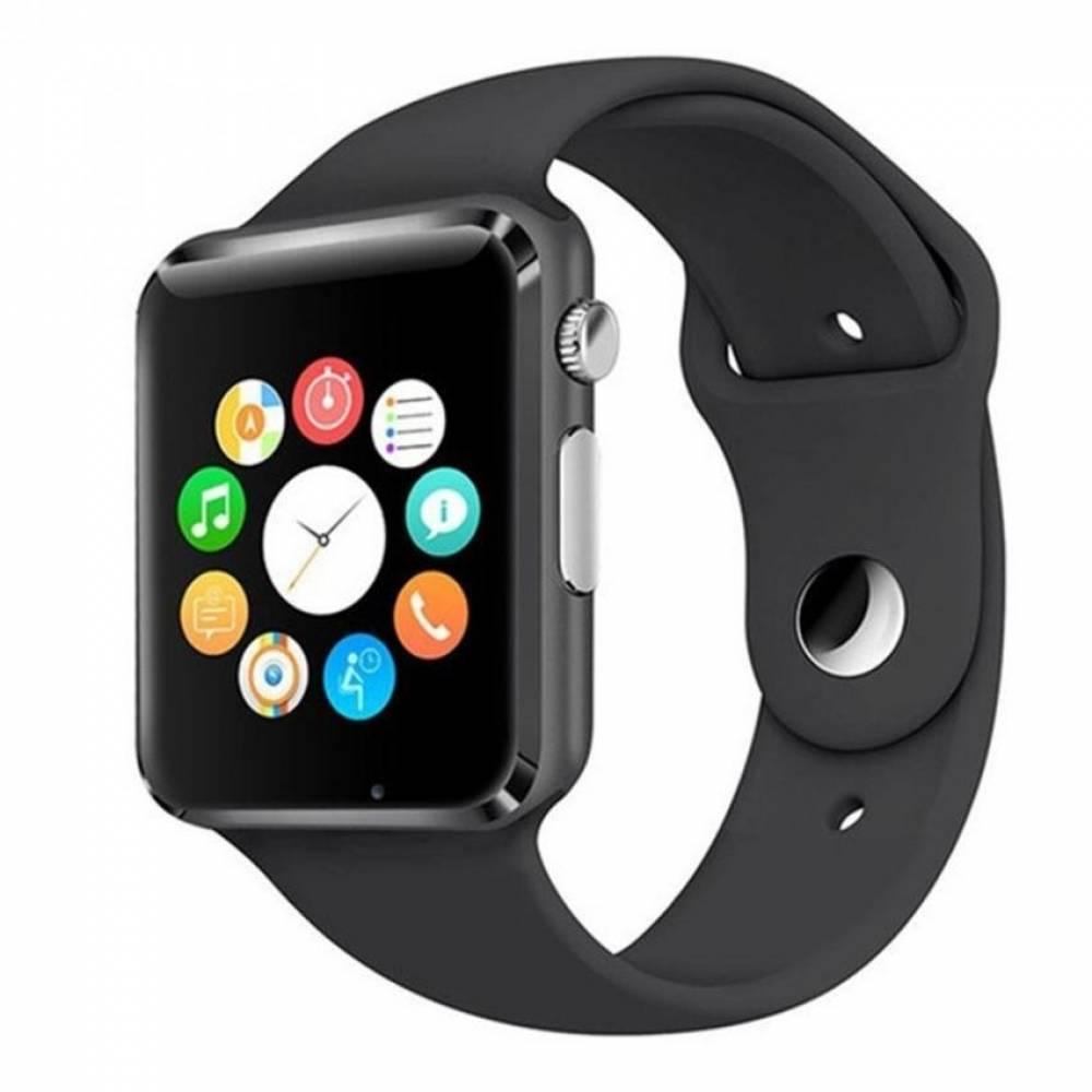 Смарт часовник Smartwatch KA A1, Слот за SIM карта, Bluetooth, Камера, Алуминий, Черен