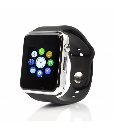 Смарт часовник Smartwatch KA A1, Слот за SIM карта, Bluetooth, Камера, Алуминий, Сребрист