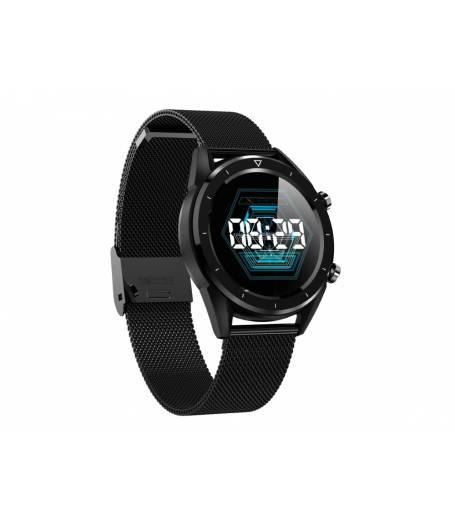 Водоустойчив Спортен Смарт Часовник KA Digital® DT28, EKG, Пулс, Кръвно налягане, Kрачки, Разстояние, Bluetooth, Метална верижка