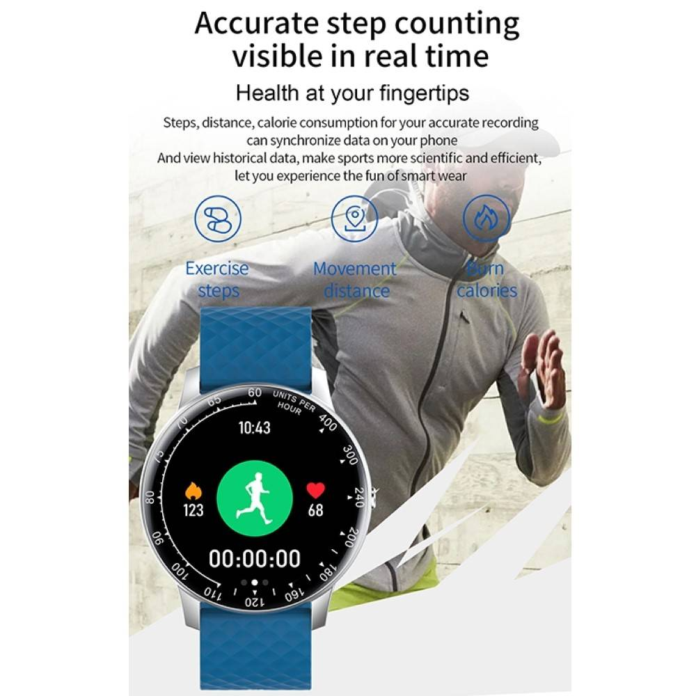 Смарт Часовник KA Digital® H30, Пулс,Кръвно налягане..