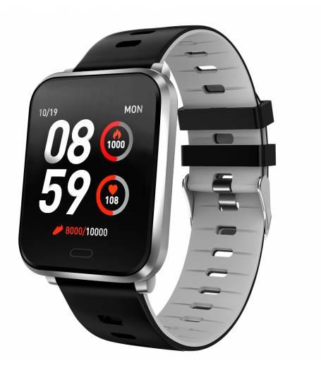 Водоустойчив Спортен Смарт Часовник KA Digital® K10, Пулс, Kрачки, Разстояние,Мултиспорт, Bluetooth, Сив