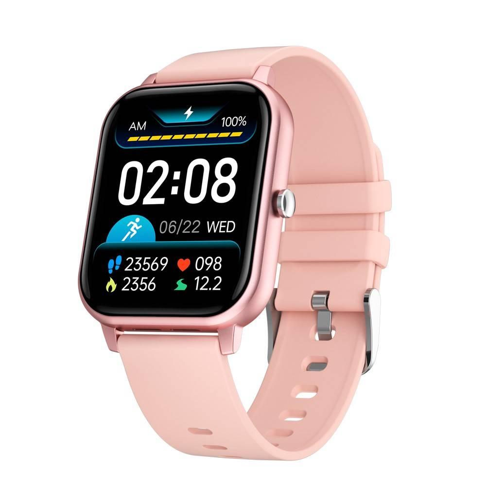Смарт Часовник KA Digital® KT50, BT Call, EKG, Пулс,Кръвно налягане, Kрачки, Разстояние,Мултиспорт, Bluetooth, Розов