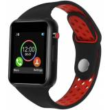 Смарт часовник KA Digital® M3, Слот за SIM карта, Bluetooth, Камера, Алуминий, Червен