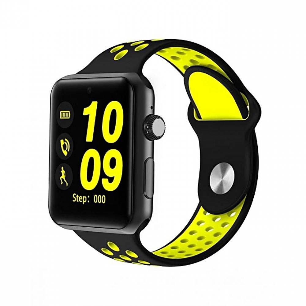 Смарт часовник KA M3, Слот за SIM карта, Bluetooth, Камера, Алуминий, Зелен