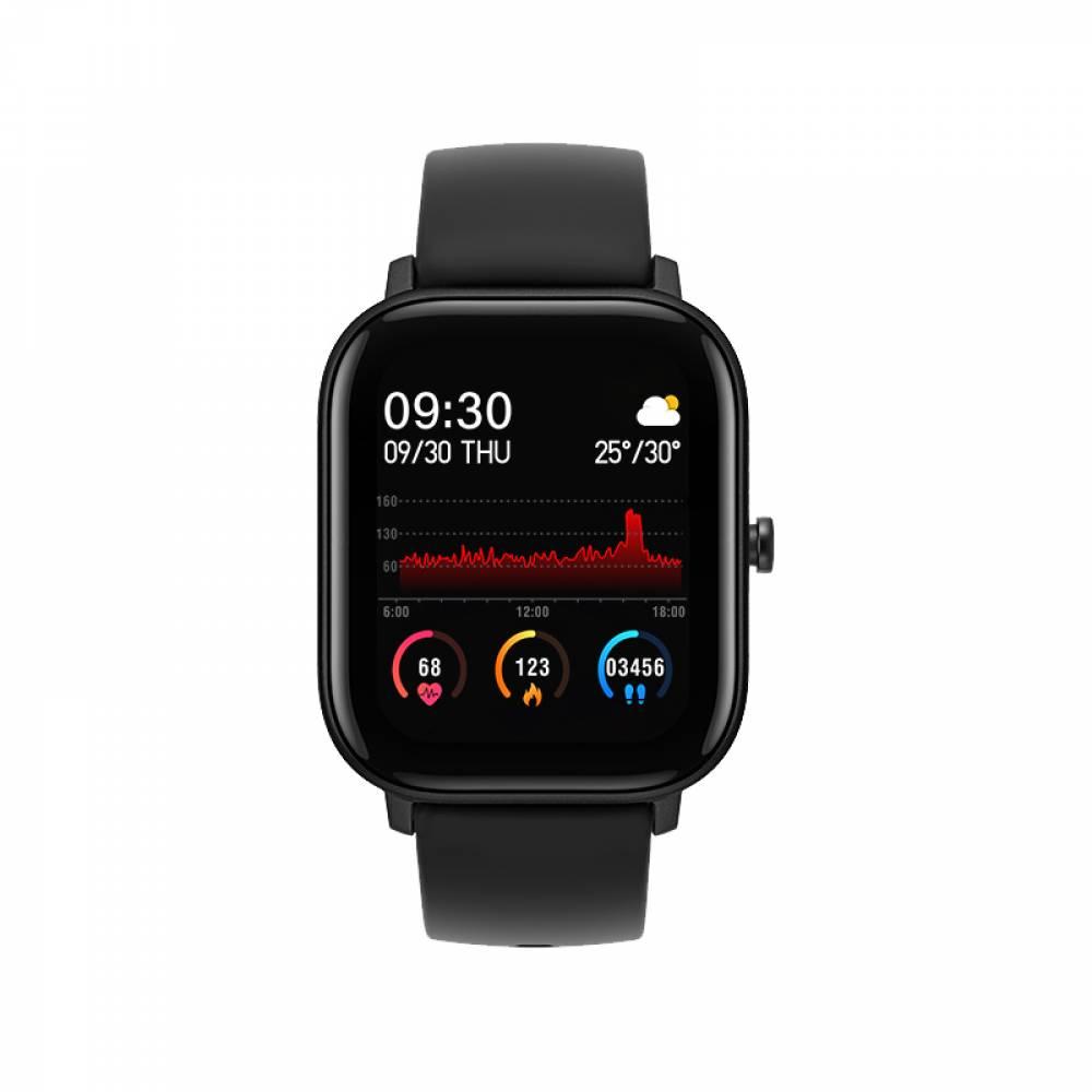 Смарт Часовник KA Digital® P8, Пулс, Кръвно налягане, Kрачки, Разстояние, Нотификации, Черен