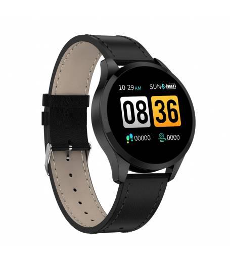 Елегантен Смарт Часовник KA Digital® Q9, Пулс, Кръвно налягане, Kрачки, Разстояние,Мултиспорт, Bluetooth, Черен