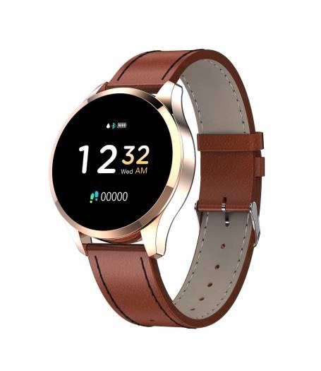 Елегантен Смарт Часовник KA Digital® Q9, Пулс, Кръвно налягане, Kрачки, Разстояние,Мултиспорт, Bluetooth, Златист