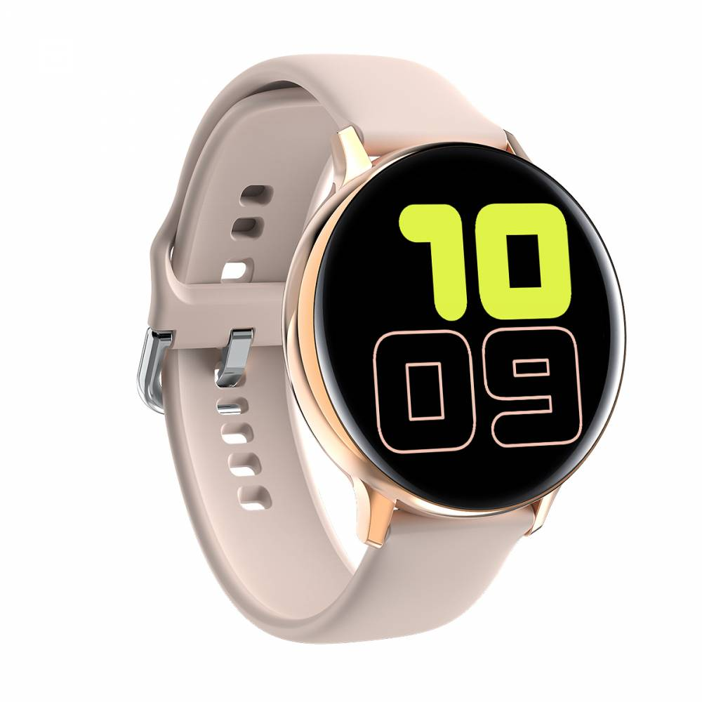 Смарт Часовник KA Digital® S20, Пулс,Кръвно налягане,ECG,  Kрачки, Разстояние,Мултиспорт, Bluetooth, Златист