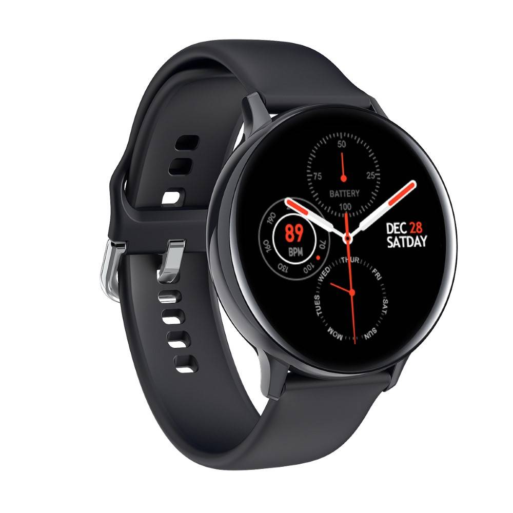 Смарт Часовник KA Digital® S20, Пулс,Кръвно налягане,ECG,  Kрачки, Разстояние,Мултиспорт, Bluetooth, Черен