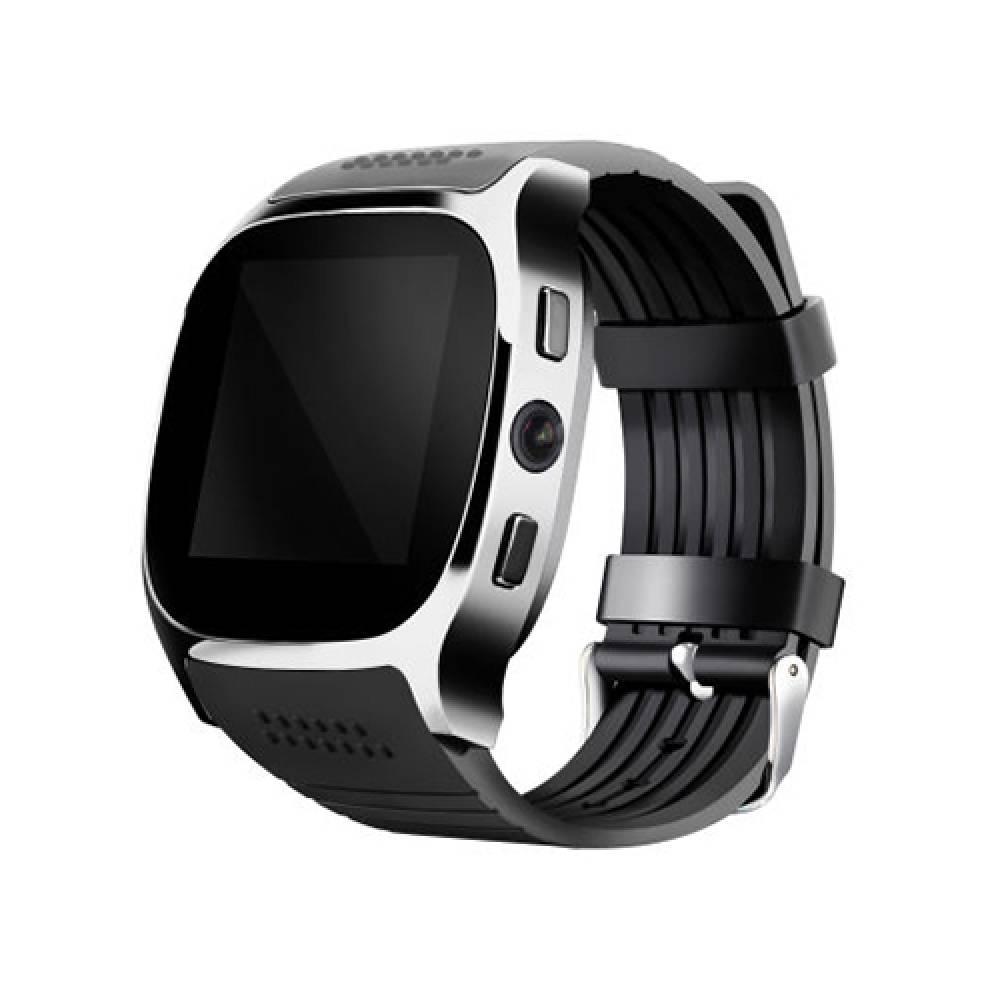 Смарт часовник Smartwatch T8 Plus, SIM, камера, Bluetooth, Черен