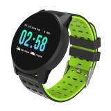 Спортен Смарт Часовник KA Digital® W1, Пулс, Kрачки, Разстояние,Мултиспорт, Bluetooth, Зелен
