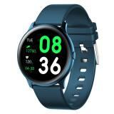 Смарт Часовник KA Digital® KW19, Пулс,Кръвно налягане, Kрачки, Разстояние,Мултиспорт, Bluetooth, Синьо-зелен