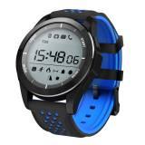 Водоустойчив Спортен Смарт часовник KA Digital® F3 Sport, Атмосферно налягане, Барометър, UV, Надморска височина, Bluetooth, Черен/Син