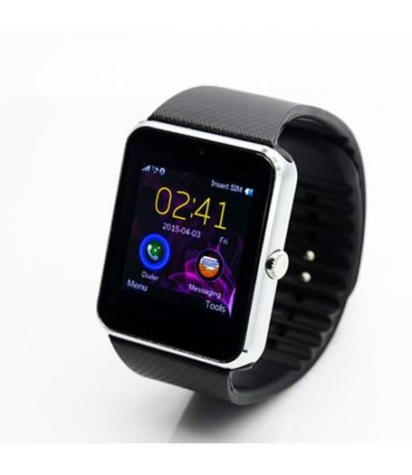 Смарт часовник Smartwatch KA GT08s Plus, Слот за SIM карта, Bluetooth, Камера, Алуминий, Сребрист