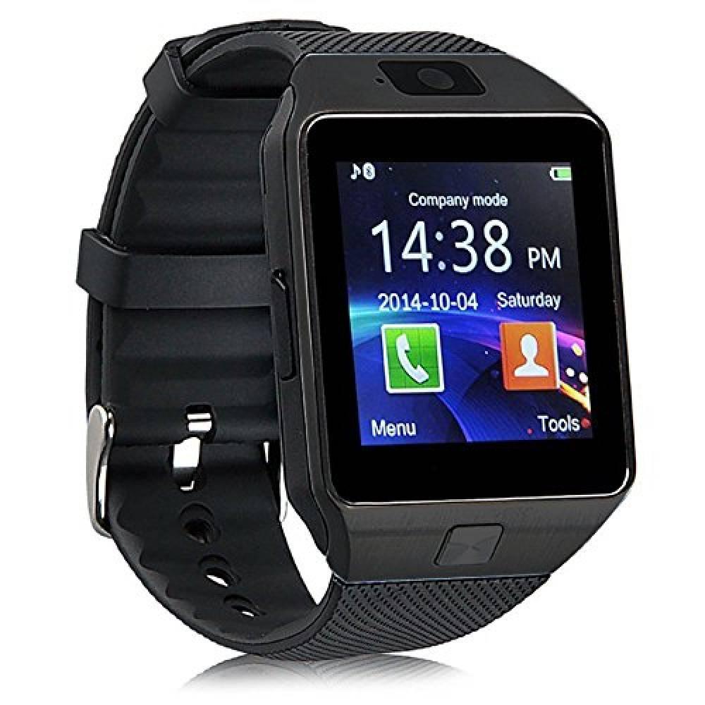 Смарт часовник Smartwatch KA09 Plus 2017, SIM, камера, Bluetooth, Черен