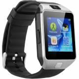 Смарт часовник Smartwatch KA09 Plus 2017, SIM, камера, Bluetooth, Сребрист