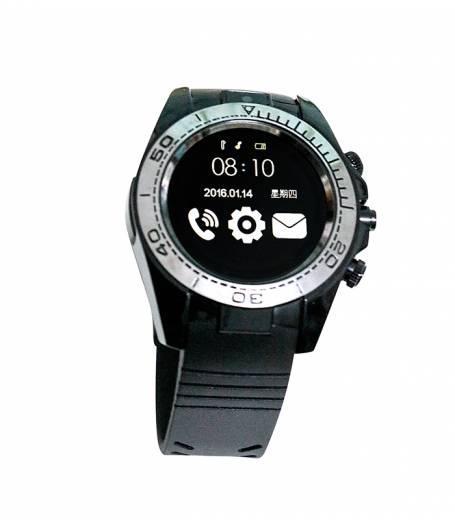 Смарт часовник Smartwatch KA Sport SW007 Plus, Слот за SIM карта, Bluetooth, Камера, Алуминий, Черен