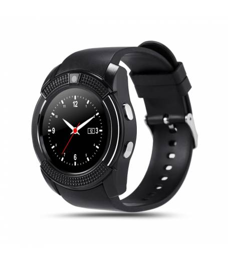 Смарт часовник Smartwatch KA Sport V8Plus, Слот за SIM карта, Bluetooth, Камера, Черен
