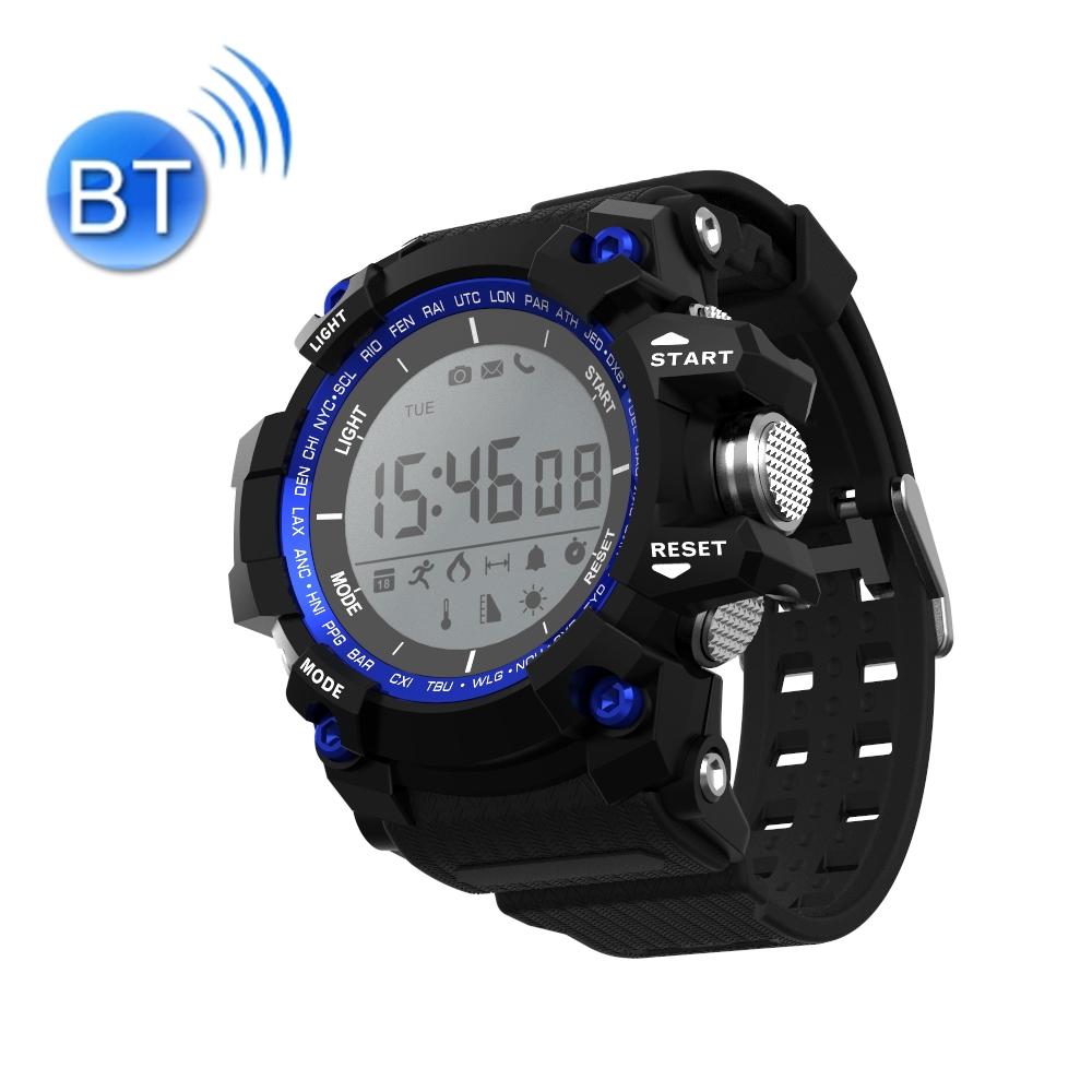 Водоустойчив Спортен Смарт часовник XR05, Bluetooth, Син