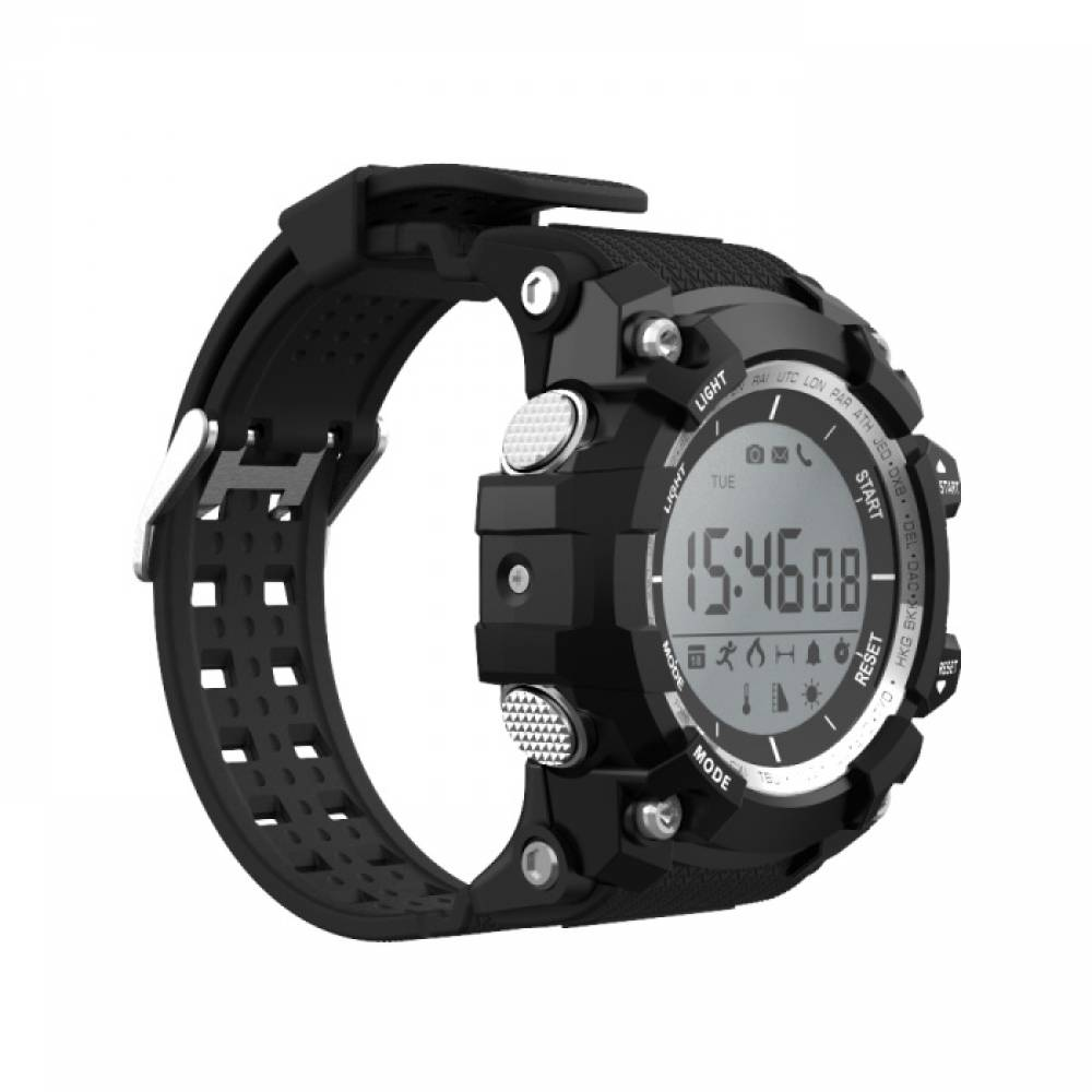 Водоустойчив Спортен Смарт часовник XR05, Bluetooth, Черен